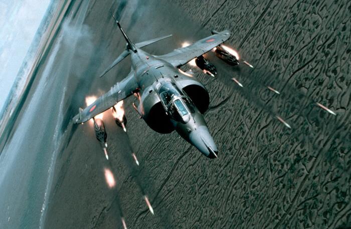Harrier GR3 Firing Rockets