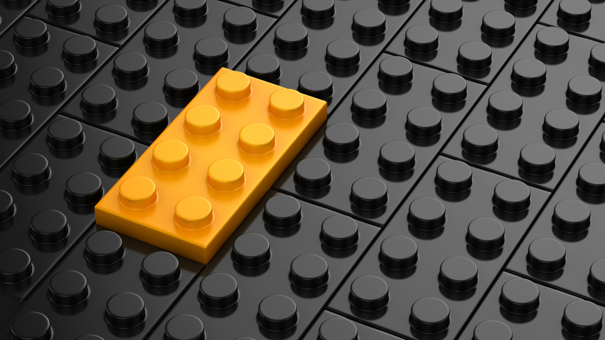 Lego block stand out in recession